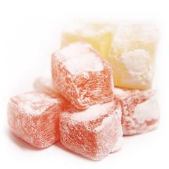 Authentic lemon and rose flavoured turkish delight.