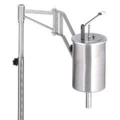 Dispenser for thicker ready mix such as waffle mix and pancake mix.