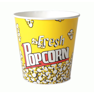 170oz Disposable Popcorn Tub x 150 Case