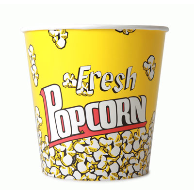 170oz Disposable Popcorn Tub x 25 Pack