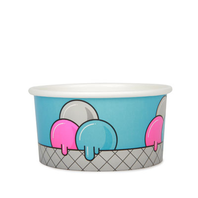 12oz Disposable Ice Cream Cup x 50 Pack
