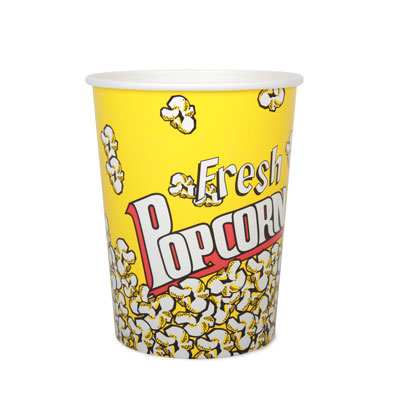 32oz Disposable Popcorn Tub  x 46 Pack