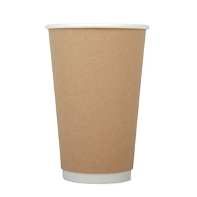 16oz Disposable Kraft Double Wall Cup x 500 Case