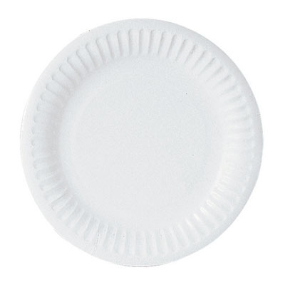 Sephra White Paper Plates - Pack of 100 x 6