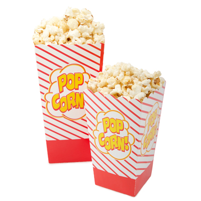 Open-Top Popcorn Boxes - 500 x 2oz