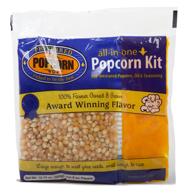 Popcorn Kernels and Oil Kit for 8oz Popcorn Machine